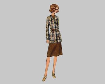 1970s Dress Tunic Skirt Pants Jacket pattern Butterick 6322 Straight leg pants. Patch pockets, Princess seams, Bust 38, Complete Wardrobe