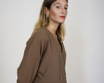 Double Breasted Collarless Jacket