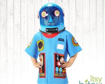 Kids Robot Halloween Costume Personalized Robot Costume Kids Dress Up Boy Halloween Costume Girl Halloween Costume Robot Helmet Robot Mask