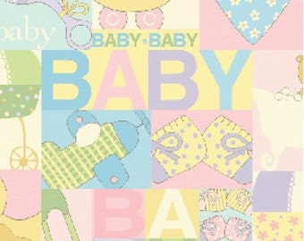 Baby Talk Fabric by Benartex Fabrics (by the yard)