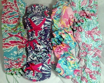 Lilly Pulitzer style steering wheel covers, Preppy, Coral Reef, Flamingo, Lobstah Roll, Starfish car accessory, cover matches our car mats