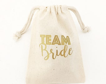 Bachelorette party favor - Bachelorette favo - Team Bride favor bags -Muslin favor bags - Bachelorette favor bags - Engagement  party favors
