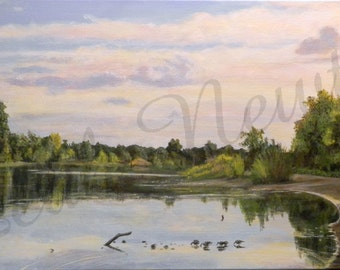 Dusk Over the American River Giclee Print