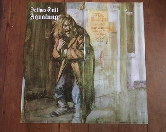 "Jethro Tull ""Aqualung"" 1971 Chrysalis Records Original Rare Vintage Music Poster"
