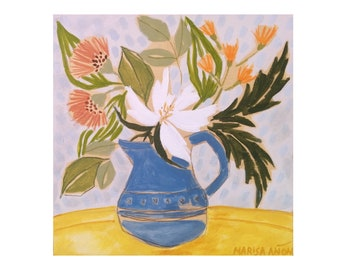 Floral Painting, Artworks for walls, Flowers Art, Marisa Añón.
