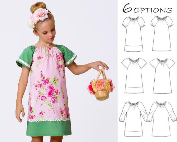 Peasant dress pattern pdf, girls sewing pattern pdf, girls dress ...