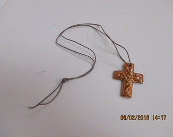 Stoneware Necklace - Cross