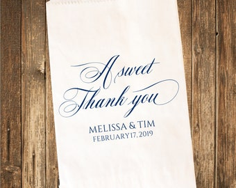 Custom Printed Candy Buffet Bags-Thank you Favor Bags  25 count