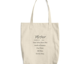 Mother Definition Cotton Tote Bag