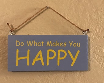 Happy Home Decor Sign