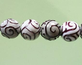 FINAL SALE 50% off * SALE * StoneyMarie Set of 6 Handmade Lampwork Glass Beads