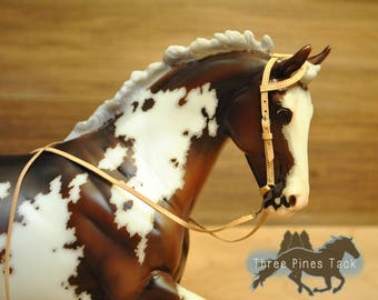 One Ear Western Bridle for Model Horses