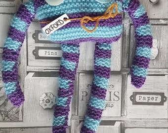 Knitted monster, soft toy, wool toy