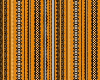 Happy Halloween by Patrick Lose - All The Trimmings Orange - Cotton Woven Fabric