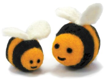 Bees Feltworks Ball Learn Needle Felting Kit