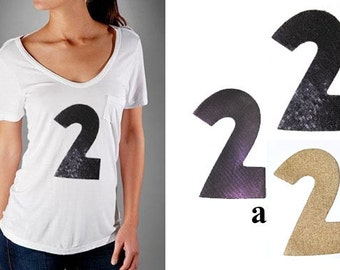 1 Heat Transfer No' 2 Applique Design in 3 colors - for Fashion Crafts and Home Decor
