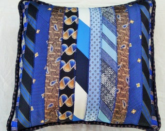 Upcycled Necktie Pillow