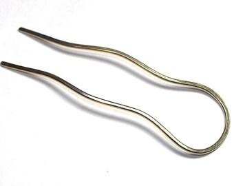 Silver Hair Fork , Hair Pin for Blonde, Bun Holder Metal Hair Clip Gift For Women, Bun hoder for Thick Hair, Hair Accessories, Women gift