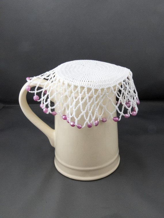 Us Crochet Pattern For Easy Jug Cover Glass Cover Beaded