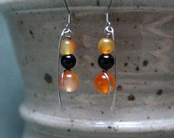 Surgical steel earrings glass beads