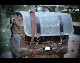 Weekender bag - waxed canvas bag - overnight bag - Luggage & Travel Bag - Fits in Airplane - 010040