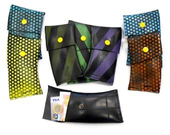 Small Wallet, Vegan wallet, Upcycled Wallet, Coin Purse , Coin Pouche , Rubber Coin Purse
