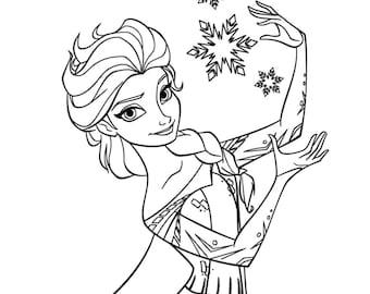 Custom Disney's Frozen Elsa Vinyl Decal