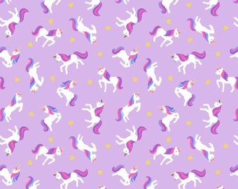 Small Things Mystical and Magical Metallic - Unicorns Laveder from Lewis and Irene