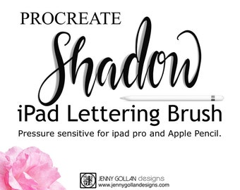 Procreate Brushes iPad Pro Shadow Calligraphy Brush