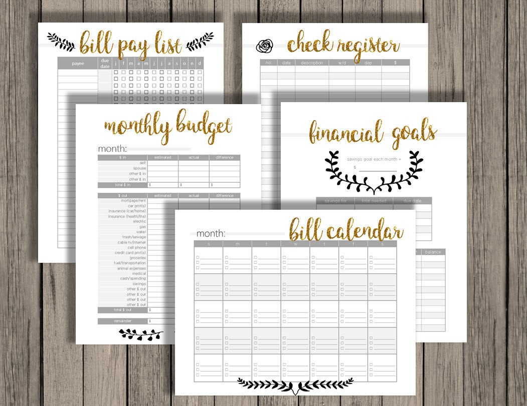 printable checkbook calendar