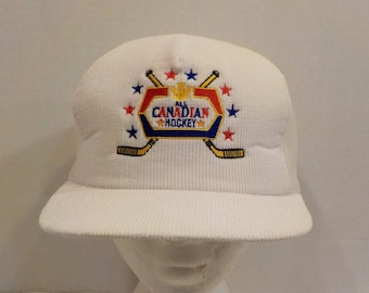 Vintage Molson Canadian Beer All Canadian  Hockey Snapback Baseball Truckers Dad Hat Mesh Cap Embroidered Logo