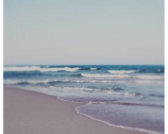 Beach Photograph - Fine Art - Nature Photography - Ombre - Landscape Photograph - Nautical Decor - Lake Michigan Photograph - Home Decor