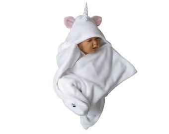 star fleece baby wrap stern schlafsack pucktuch swaddle einschlagdecke einhorn halloween fasching