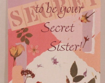 NEW! Religious Secret Sister by DaySpring . 1 Single Card with Envelope.