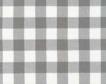 One inch gingham, grey gingham, gray one inch yarn dyed gingham fabric  Free Domestic Ship over 50