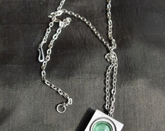 Vintage pewter necklace. Chain with pendant