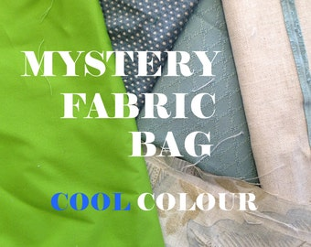 Mystery Fabric Bag - COOL Colours
