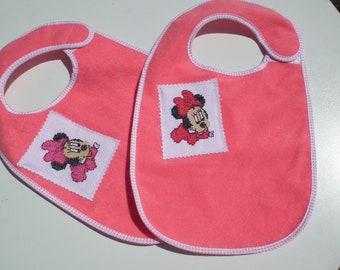 Pink Minnie bib