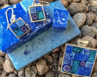 Blue mood (earringa and pendant)