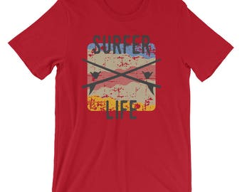 Surfer Life Retro Vintage Surf California Surfer Shirt For A Sea Turtle Lover Sea Turtle Gift For Ocean Turtle And Surfing Tshirt Lovers