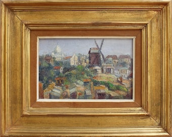 View of Montmartre by Jean Jaffeux (1955)