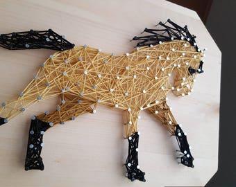 Buckskin horse string art