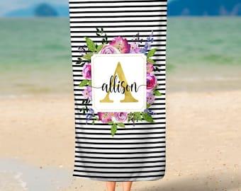 Custom Beach Towel, Personalized Towel, Monogrammed Towel, 30x60 Towel, Customized Towel, Beach Towel, Custom Towel, Custom Bath Towel