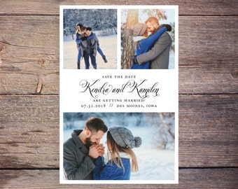 Save the Date Postcard, Save-the-Date Card, Calendar, Photo, DIY Printable, Digital File – Kendra