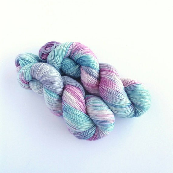 recommended dyers - Woolly Mama Yarns 4 Ply Yarn Fingering, Merino & Nylon Sock Yarn, colorway