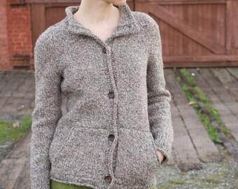 Sounds of Life Pockets Sweater Cardigan PDF Knitting Pattern