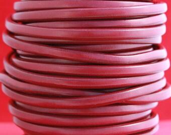 "MADE in EUROPE 8"" dark red licorice leather cord, 10x6 leather cord, bracelet leather cord, thick leather cord (MARL10GRAN)"
