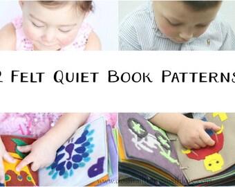 2 Felt Quiet Book Patterns//ABC Boy and Girl Quiet Book Patterns