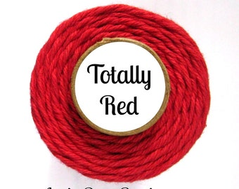 Solid Red Bakers Twine by Trendy Twine - Totally Red - Craft, Packaging, Cotton String, Favors, Baking, Christmas, Valentine's Day, Holiday