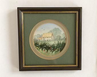 Original Watercolour Paining, Vintage Painting